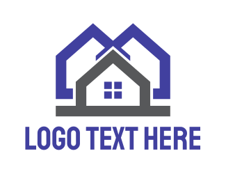 Neighborhood - Blue Grey House logo design