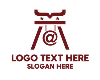 Programing - Maroon Code logo design