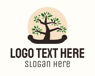 Sustainability - Bonsai Tree logo design