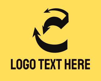 Logistics - Arrow Shadow C logo design