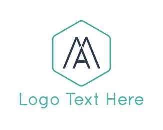 Hexagonal - Modern Letter A logo design