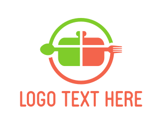 Fork - Cooking Circle logo design