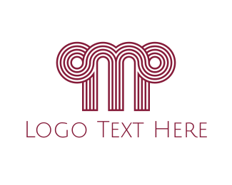 Text - Greek Letter M logo design