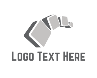 Gray - Concrete Cubes logo design