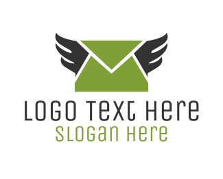 Postal - Mail Wings logo design