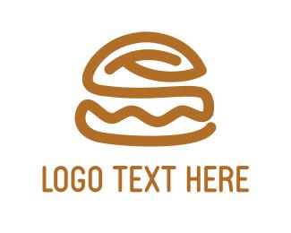 Dinner - Brown Burger logo design