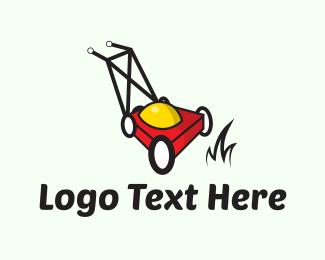 Yard - Red Lawnmower logo design