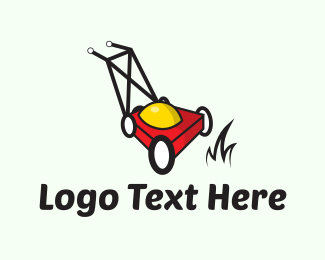 Yard - Red Lawnmower logo design