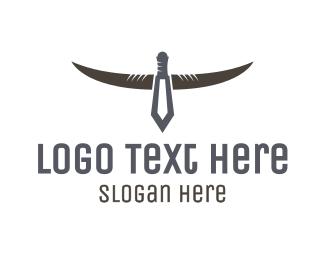 Hunt - Dagger Horns logo design