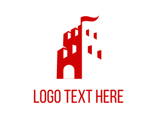 Medieval - Red Tower logo design
