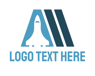 Rocket - Spaceship Letter A logo design