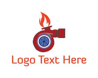 Motor - Turbo Flame logo design