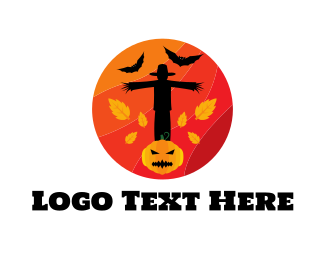 Fall - Halloween Circle logo design