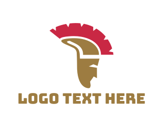 Gladiator - Greek Helmet logo design