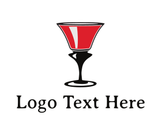 Pub - Wine Glass logo design