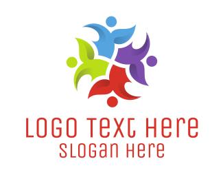 Friends Logo - Floral Crowd logo design