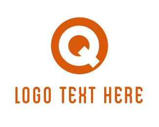 Thick - Circle Citrus Q logo design