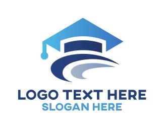 School - Graduation Hat  logo design