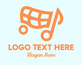 Cart - Shop Tunes logo design