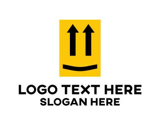 Transportation - Yellow Up Face logo design