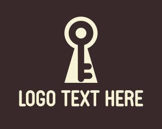 Secure - White Keyhole logo design