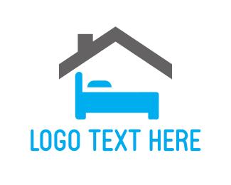 Room - Blue Bedroom logo design