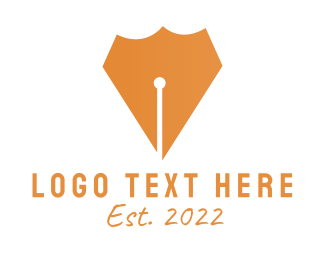 Pen - Pen Shield logo design