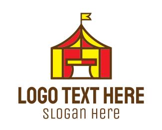 Playground - Circus Tent logo design