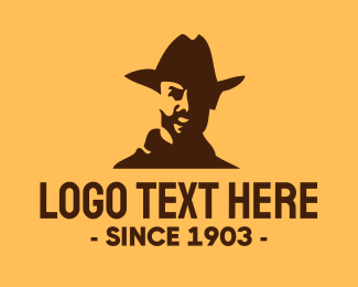 Western - Happy Cowboy logo design