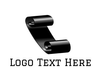 Newspaper - Black Paper Sheet logo design