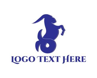 Mermaid - Sea Goat logo design