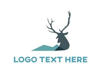 Antlers - Wild Reindeer logo design