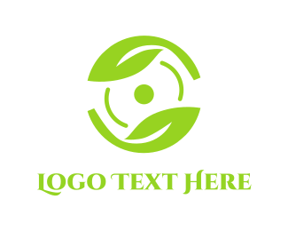 Recycling - Green Steering Wheel logo design