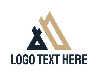 Double - Double A Tech  logo design