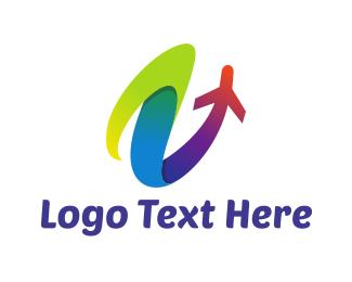 Flight - Colorful Launch logo design