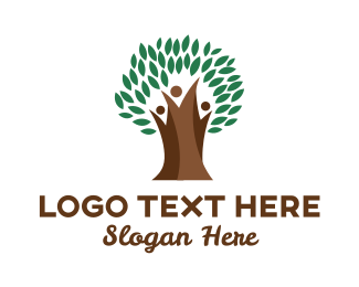 Parenthood - Thick Branch Tree logo design