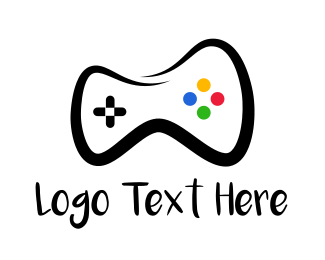 Nintendo - Controller Drawing logo design