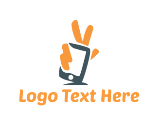 Phone Repair - Peace Application logo design