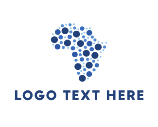 Location - African Dots logo design
