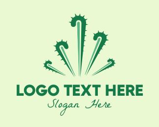 Desert - Cactus Fireworks logo design