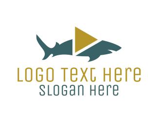 Shark - Shark Video Play logo design
