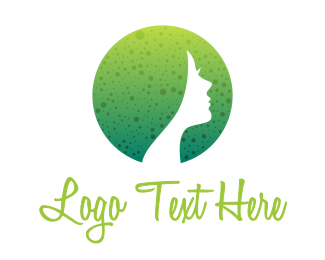 Parlor - Round Dotted Female logo design