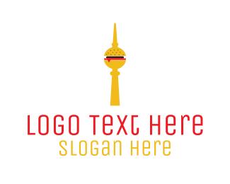 Burger - Burger Tower logo design