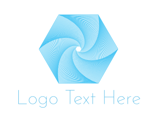 Twister - Hexagonal Tornado logo design