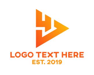 Download - Gradient Play Four logo design