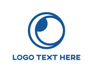 Hole - Blue Lens logo design