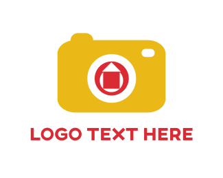 Shutter - Yellow Camera logo design