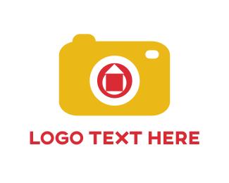 Zoom - Yellow Camera logo design