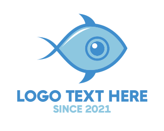 Swim - Fish Eye logo design