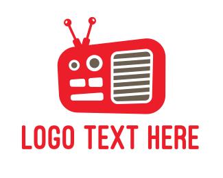 Band - Red Radio  logo design